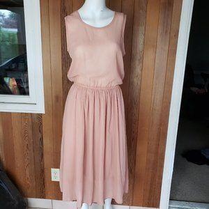 Dresses & Skirts - Vintage Sheer Dusty Rose Pink Dress